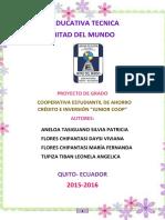 """PROYECTO DE GRADO COOPERATIVA ESTUDIANTIL """"JUNIOR COOP"""""""
