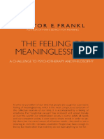Victor Frankl - The Feeling of Meaninglessness, A Challenge