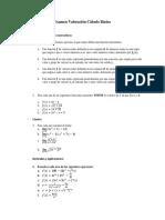 Examen Valoración Cálculo Básico