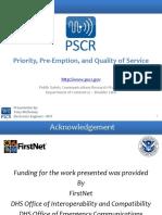 PSCR Broadband Conference - Priority Pre-Emption QoS Presentation June 2014