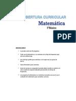 Cobertura Curricular Matematica 5basico