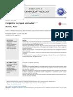 Congenital Laryngeal Anomalies