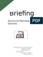Briefing Planchado a Domicilio