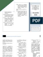 Acuerdo 650