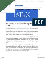 Um Exemplo de Referências Bibliográficas Em LaTeX