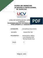 Vulnerabilidad de Los Derechos en El Perù en La Epoca Del Terrorismo 1