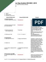 Penuntun Gap Analisis ISO 9001 2015 - Nqa Com