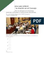 En Cartagena Juez Ordenó Suspender La Oración en El Concejo