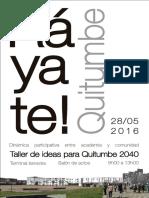 Poster para actividad entre comunidad y academia