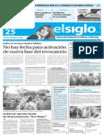 Edición Impresa El Siglo 25-05-2016