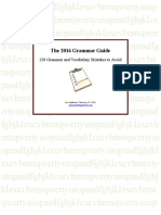 English Grammar Guide 2016