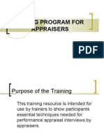 Training Program for Appraisers