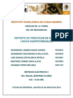 Reporte Practica 3 (Lineas equipotenciales)