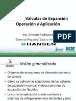 11-1 HANSEN Taller Valvulas de Expansion - IIAR Colombia 2015