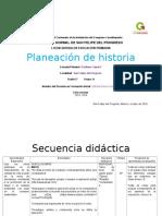 Planeacion argumentada de Historia