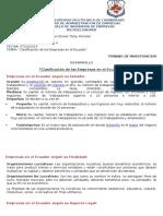 """""""Clasificación de las Empresas en el Ecuador"""""""