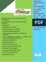 Proyecto Experiencias en Aprendizaje y Servicio Solidario
