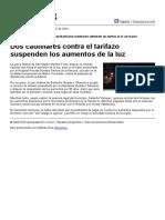 Dos Cautelares Contra El Tarifazo Suspenden Los Aumentos de La Luz
