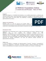 PDF - Curso PRINCE2 - Foundation - Online