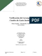 Verificación Del Arranque y Cuadro de Gasto Instalado-1