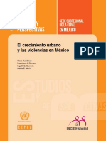 El Crecimiento Urbano y Las Violencias en Mexico
