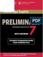 Preliminary English Test 7 With Answers