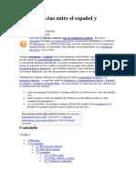 96201916 Las Diferencias Entre El Espanol y Portugues