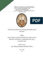 Anal. de La Vivienda Social en El Peru