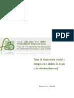 Guía de Financiación Estatal y Europea en El Ámbito de La Paz y Los Derechos Humanos-jul- 2015