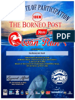 Cultural Diversity & Ocean Run 2016 Certificate