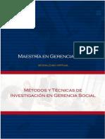 Metodos y Técnicas de Investigación en Gerencia Social