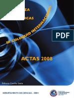 Actas 2008 III Coloquio
