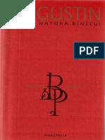 Fericitul Augustin Despre Natura Binelui Contra Maniheilor
