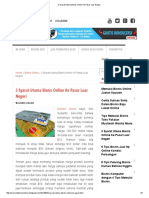 3 Syarat Utama Bisnis Online Ke Pasar Luar Negeri