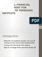 Personal Financial Management For