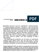Using General Semantics - Susan Presby-Kodish