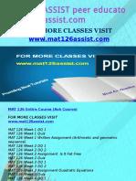 MAT 126 ASSIST Peer Educator-mat126assist.com