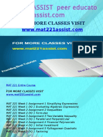 MAT 221 ASSIST Peer Educator-mat221assist.com