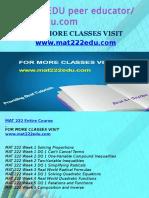MAT 222 EDU Peer Educator-mat222edu.com