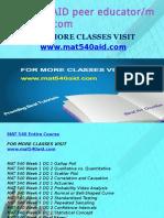 MAT 540 AID Peer Educator-mat540aid.com
