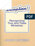 Deception - Recognizing True and False Ministries