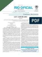 Ley 1448 de 2011 Ley de Victimas