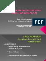 Cara Pelaporan & Interpretasi Hasil PME Imunologi - Kemenkes RI
