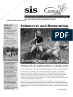 Ecesis Newsletter, Autumn 2007 ~ California Society for Ecological Restoration
