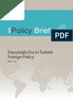 داود أوغلو عصر في السياسة الخارجية التركية