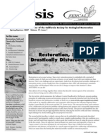 Ecesis Newsletter, Spring 2007 ~ California Society for Ecological Restoration