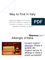 Way to Find in Italy