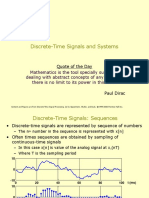 Lecture 3 DSP Discrete-Time Signals and Systems