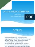 Otitis Media Adhesiva