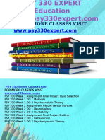 PSY 330 EXPERT Education Expert/psy330expert.com